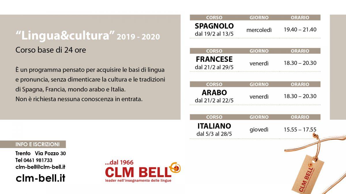 Lingua e Cultura 2020 - CLM BELL